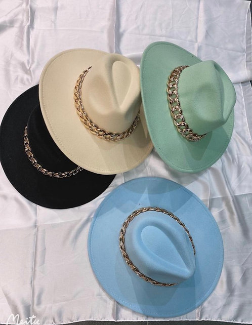 FEDORA CHAIN HATS- SPRING COLOUR