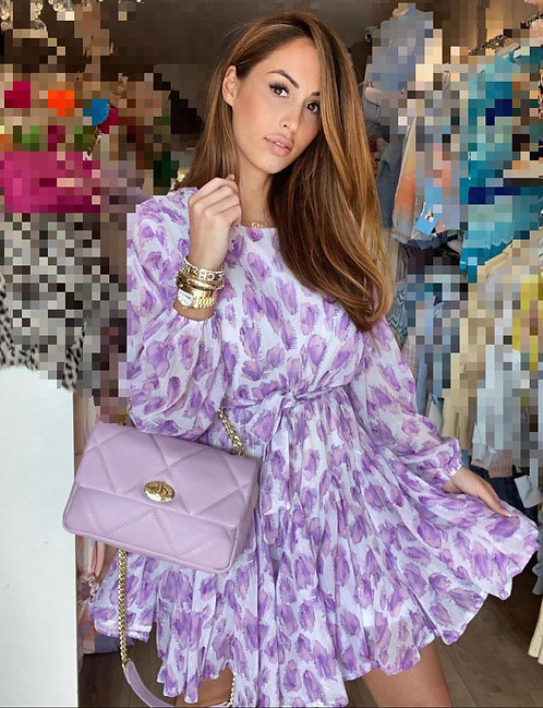 LUXURY PURPLE SPALT DRESS