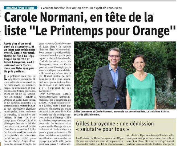 ARTICLE vaucluse matin 2019 - Lancement campagne