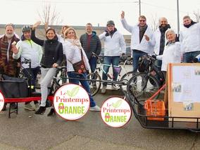 """VéloTour avec """"Le Printemps POUR Orange"""""""