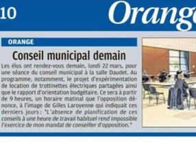 Conseil Municipal du 22 mars 2021