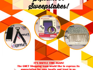 September Sweepstakes!