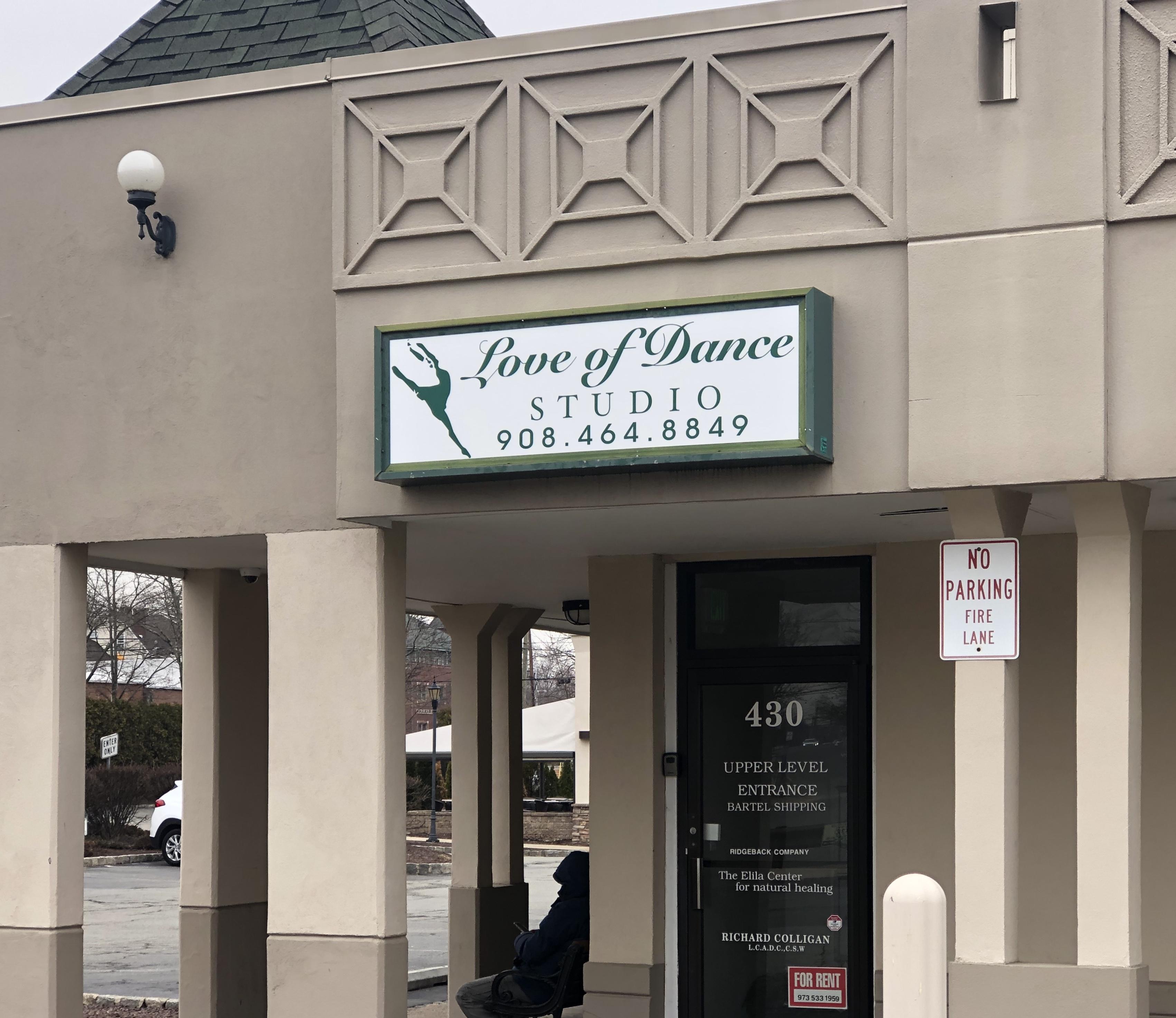 Love of Dance Studio Sign