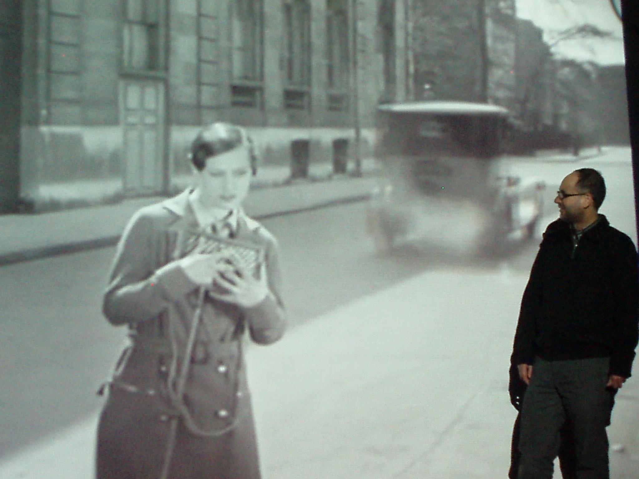 Con el androgino dentro del film