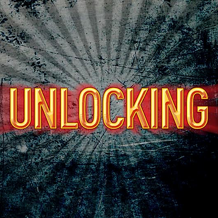The logo for Unlocking, a podcast hosted by Author Mark Tullius