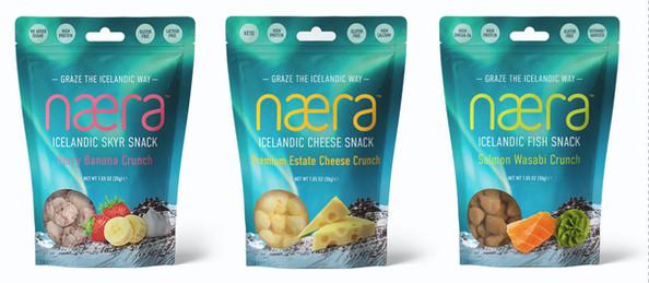 Næra Icelandic Snacks Packaging