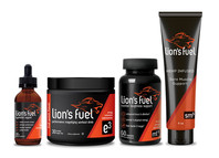 Lion's Fuel Fitness Product Packaging