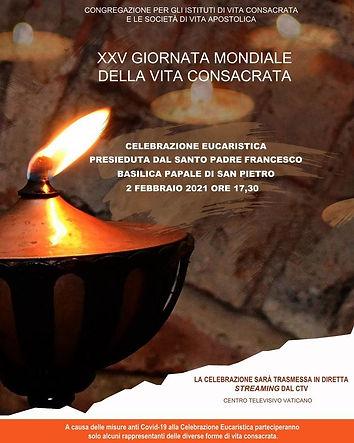 XXV Giornata Mondiale della Vita Consacrata