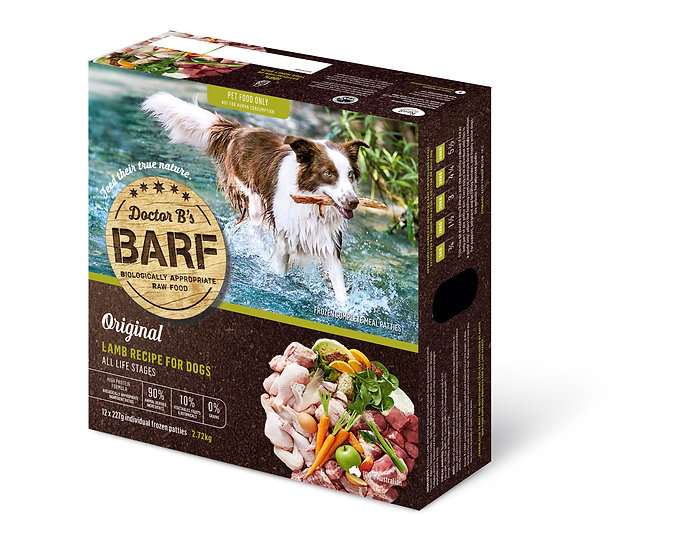 Doctor B's BARF Lamb Recipe for Dogs