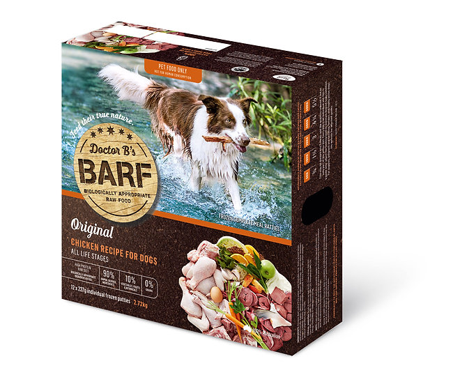 Doctor B's BARF Chicken Recipe for Dogs