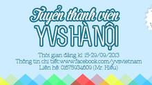 Tuyển thành viên YVS Hà Nội
