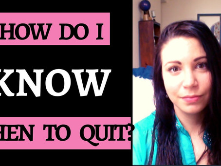 Dear Diary: How Do I know When To Quit?