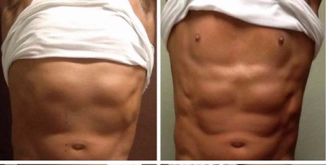 Man Abs Before & After