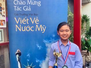 Giải Viết Về Nước Mỹ Kỳ Thứ 20 Do Việt Báo Tổ Chức - Bé Viết Văn Việt.