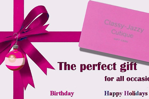 Classy Jazzy $75 Gift Card