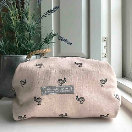 Cosmetic Bag with Running Hare