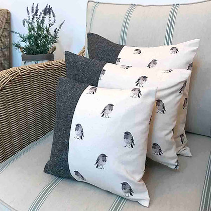 Luxury Cushion with Robin from