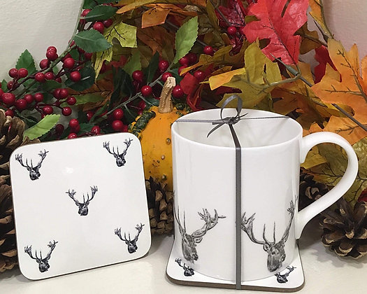 Gift Set with Stag Head