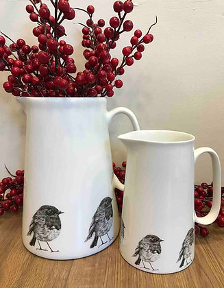 Farmhouse Jug with Robin from