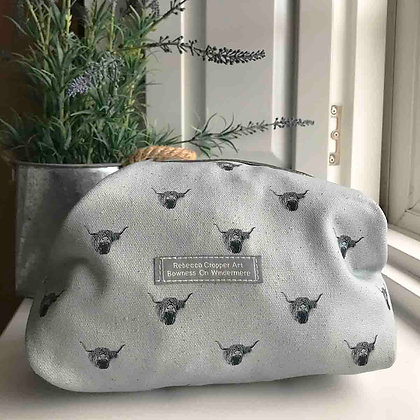 Cosmetic Bag with Highland Cow
