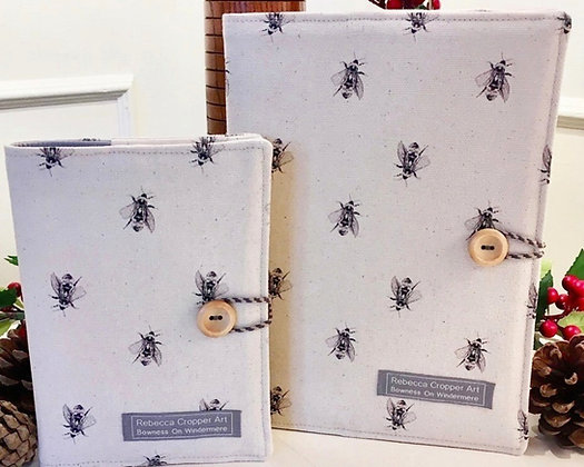Fabric Notebook with Bumblebee from