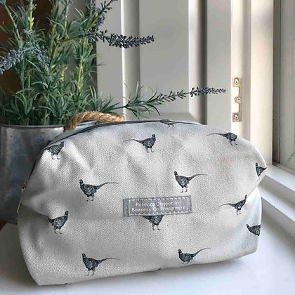 Cosmetic Bag with Pheasant