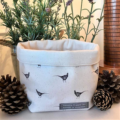 Storage Box with Pheasant