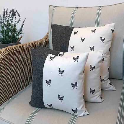 Luxury Cushion with Hen from