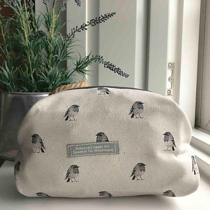 Cosmetic Bag with Robin