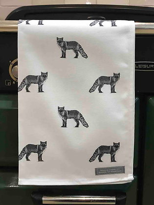 Tea Towel with Fox
