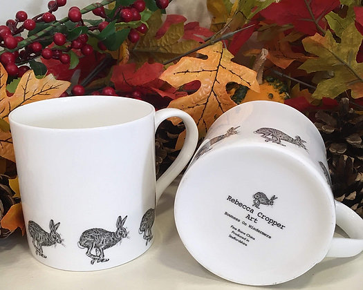 Balmoral Mug with Running Hare