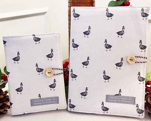 Fabric Notebook with Duck from