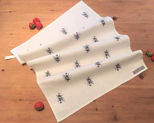 Tea Towel with Bumblebee