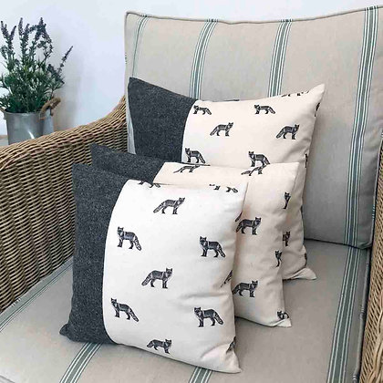 Luxury Cushion with Fox from