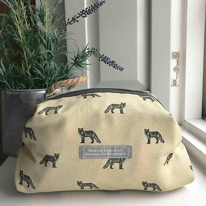 Cosmetic Bag with Fox