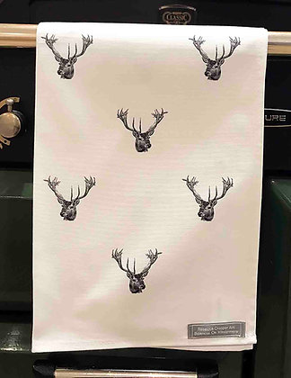 Tea Towel with Stag Head