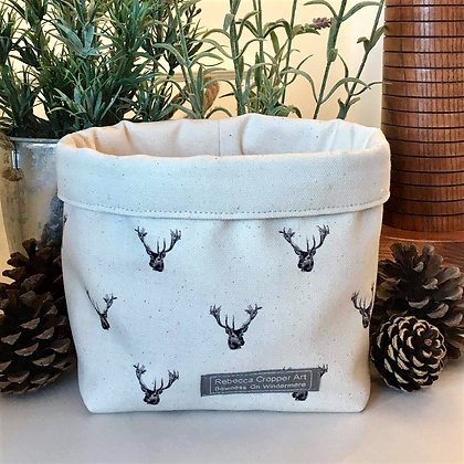 Storage Box with Stag Head