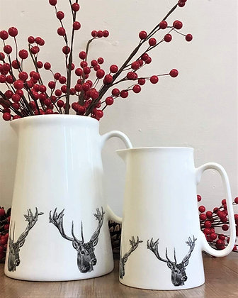 Farmhouse Jug with Stag Head from