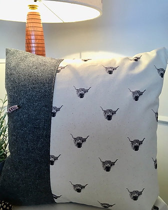 Luxury Cushion with Highland Cow from