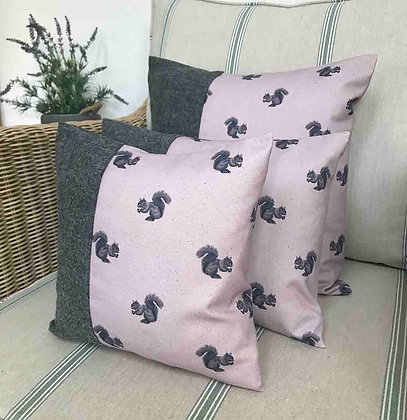 Luxury Cushion with Squirrel from
