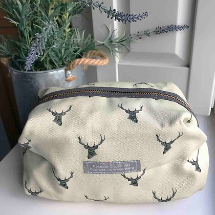 Cosmetic Bag with Stag