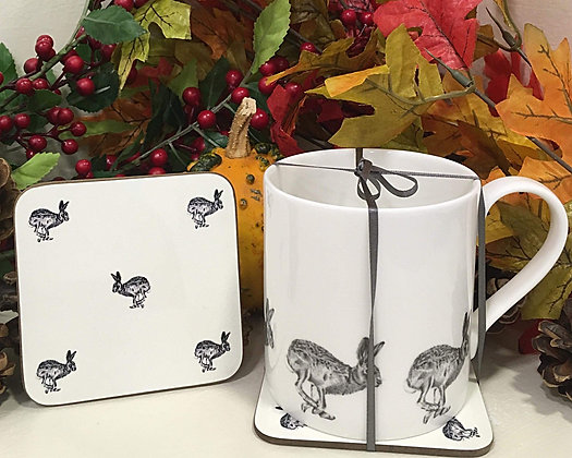 Gift Set with Running Hare