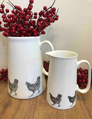 Farmhouse Jug with Hen from
