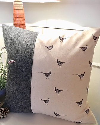 Luxury Cushion with Pheasant  from