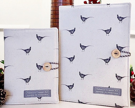 Fabric Notebook with Pheasant from