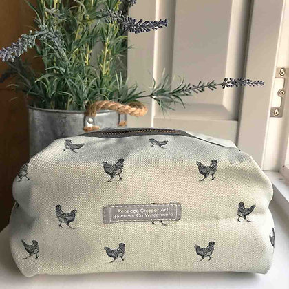 Cosmetic Bag with Hen
