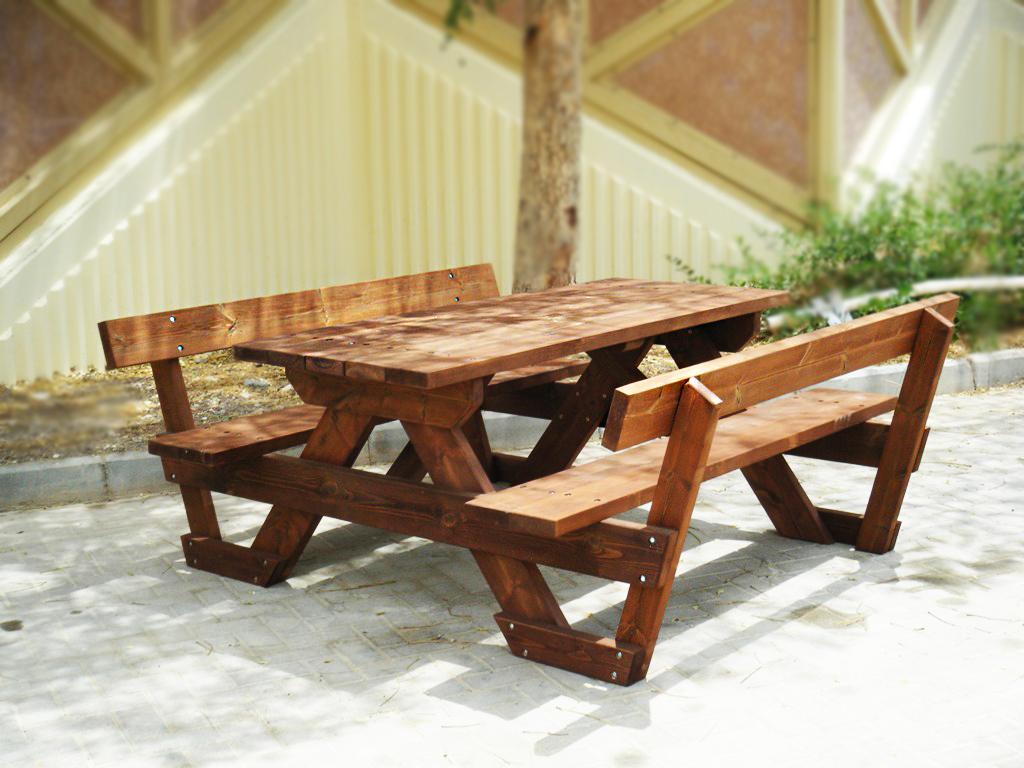 שולחן-פיקניק-דגם-קקל-עם-משענת-גב