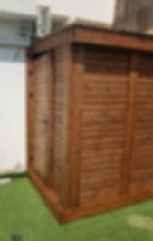 פרויקט בניה, פרגולה פינתית ופרגולה למרפסת ,גדר עץ לבנה ודק עץ אורן לבן בגינה