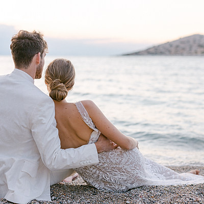 Ocean Blue with Corals Romantic Wedding Inspiration