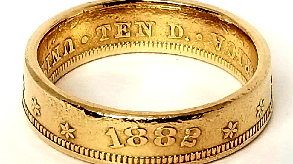 $10 Liberty Eagle Gold Coin Ring